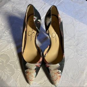 Floral Pointed Toe Heels - Jessica Simpson